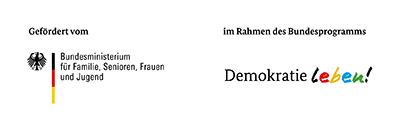 Logo BMFSJ und Demokratie leben