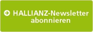 Grüner Button mit der Aufschrift: HALLIANZ-Newsletter abonnieren