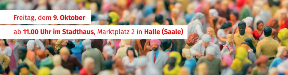 """Landesdemokratiekonferenz """"Ein Jahr nach dem Attentat in Halle"""""""
