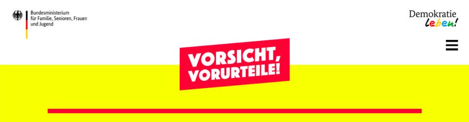 """Kampagne """"Vorsicht, Vorurteile!"""""""